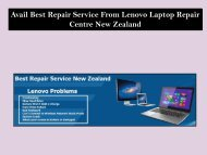 Avail Best Repair Service From Lenovo Laptop Repair Centre New Zealand