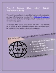 Top 5 Factors That Affect Website Performance Badly