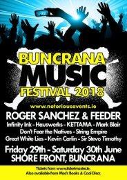 Buncrana Music Festival Brochure 2018