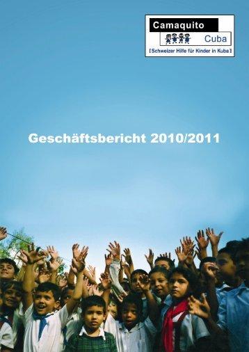 Geschäftsbericht 2010/2011 - Kinderhilfsorganisation Camaquito