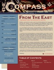 The Compass, Volume 1, Issue 7, July 2018