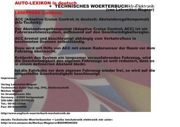 autolexikon + deutsch-englisch Woerterbuch