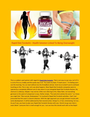 Rapid Diet Forskolin - Review