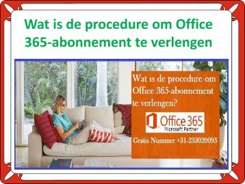 Wat is de procedure om Office 365-abonnement te verlengen