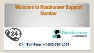 Dial on Roadrunner Support Number +1-800-763-4027 (Toll-Free)