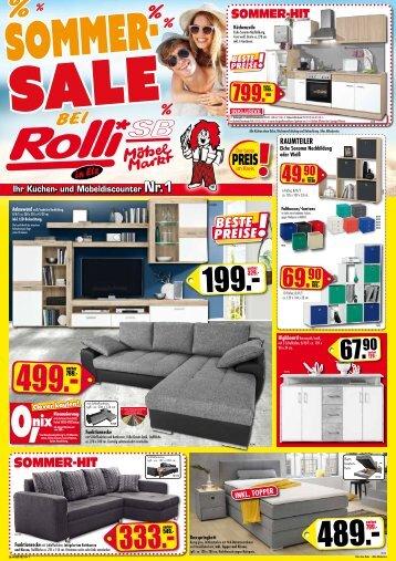 Super: Sommer-Sale bei Rolli SB-Möbelmarkt in 65604 Elz bei Limburg