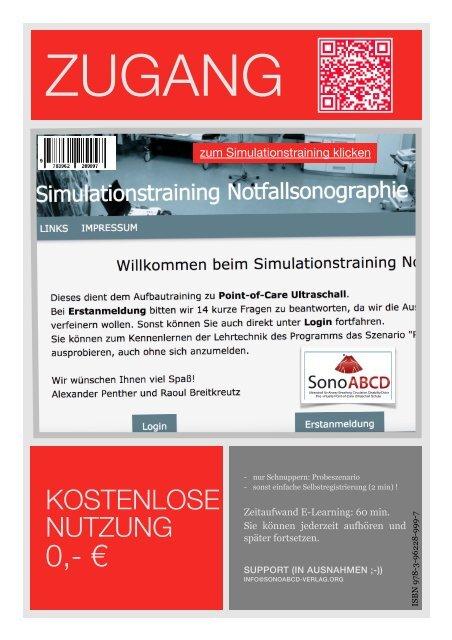 Simulationstraining Notfallsonographie auf SonoABCD