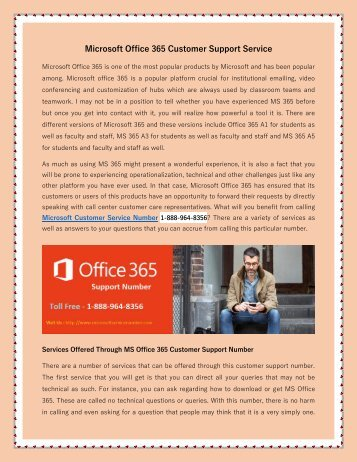 Office 365 Customer Support Number