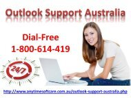 Outlook Support Australia 1-800-614-419|Perfect Service
