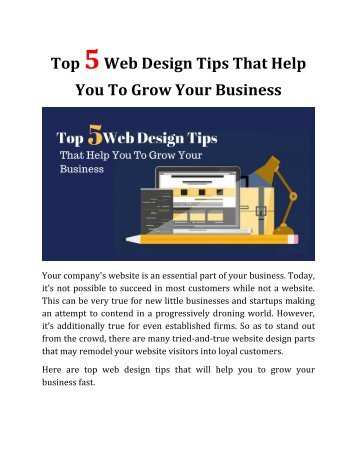 Top 5 Web Design Tips That Help You To Grow Your Business