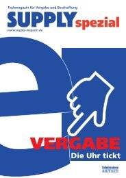 SUPPLYspezial e-Vergabe