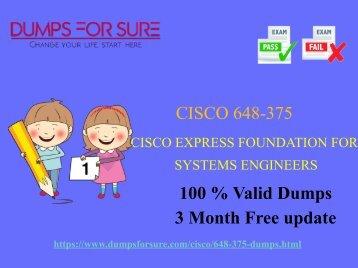 Cisco 648-375 dumps