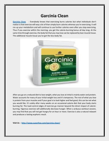 Reduce your Belly Fat with Garcinia Clean