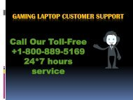 Gaming Laptop customer support