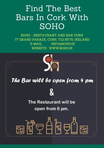 Find The Best Bars In Cork With SOHO