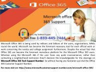 Microsoft office 365 Support Number 1-833-445-7444