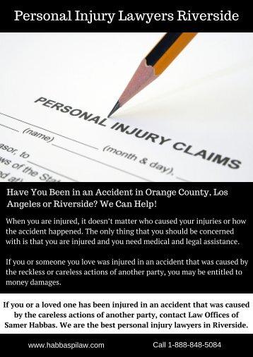 Personal Injury Lawyers Riverside