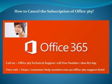 How to Cancel the Subscription of Office 365?