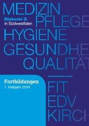 Fortbildungsbroschüre 1/2019 Diakonie in Südwestfalen