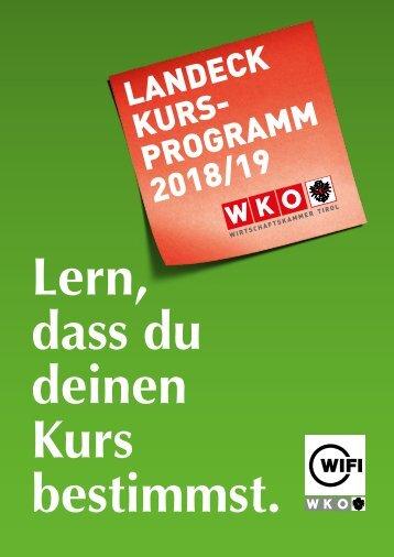 WIFI Landeck Kursprogramm 2018 2019