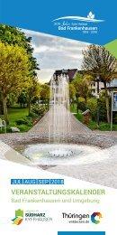 Veranstaltungskalender Juli bis September für Bad Frankenhausen und Umgebung