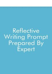 Reflective Writing Prompt Prepared By Expert