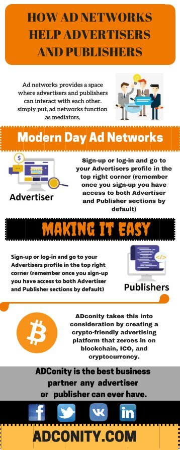 HOW AD NETWORKS HELP ADVERTISERS AND PUBLISHERS