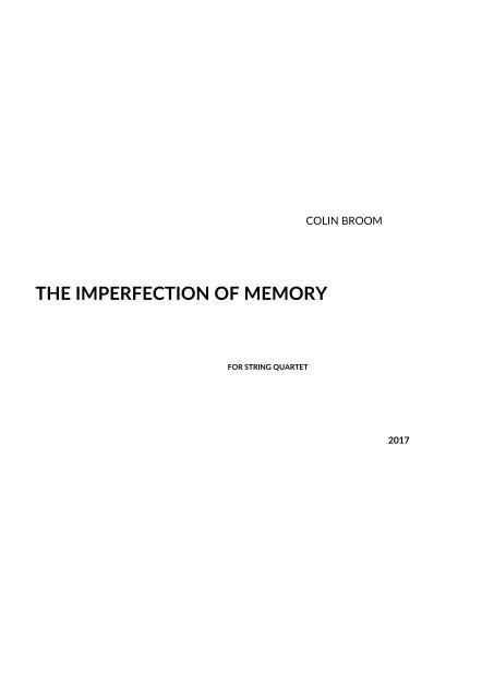 Colin Broom_The Imperfection of Memory