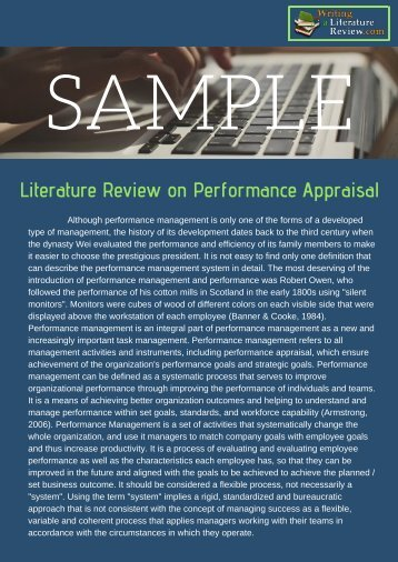 review-of-literature-on-performance-appraisal