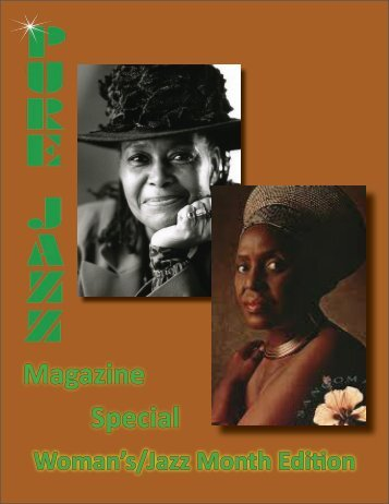 Pure Jazz Magazine Special Women's/Jazz Month Issue