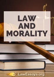 Law and Morality Essay Sample