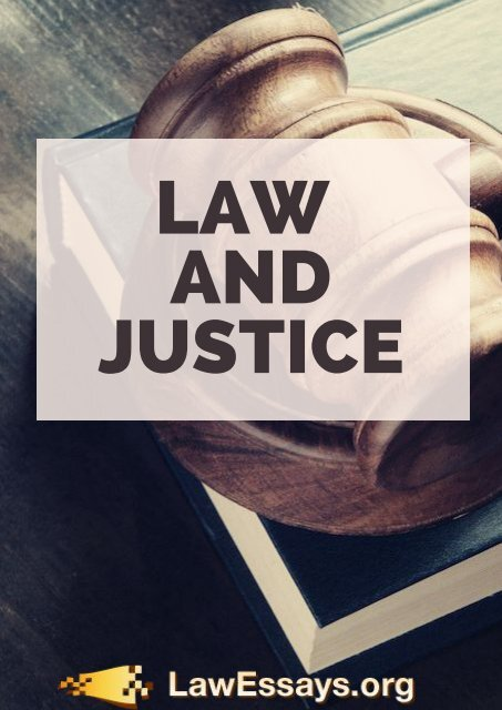 Law and Justice Essay Sample