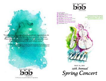 spring concert programbook  2018