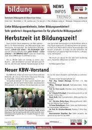 INFOS – TRENDS Herbst 2008 - Katholisches Bildungswerk - Graz ...