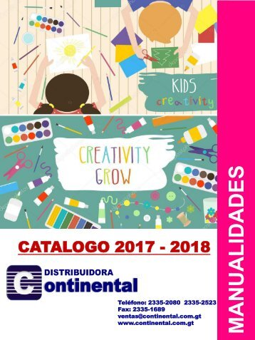 Catalogo Continental - MANUALIDADES