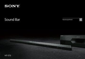 Sony HT-ST3 - HT-ST3 Mode d'emploi Estonien