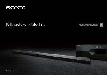 Sony HT-ST3 - HT-ST3 Mode d'emploi Lituanien