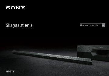Sony HT-ST3 - HT-ST3 Mode d'emploi Letton