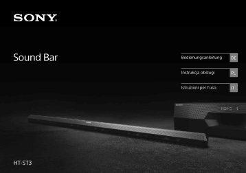 Sony HT-ST3 - HT-ST3 Consignes d'utilisation Italien