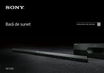 Sony HT-ST3 - HT-ST3 Mode d'emploi Roumain