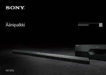 Sony HT-ST3 - HT-ST3 Mode d'emploi Finlandais