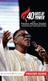 40 Days of Power 2018 - Prayer Guide from Pastor Mensa Otabil