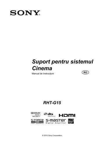 Sony RHT-G15 - RHT-G15 Mode d'emploi Roumain