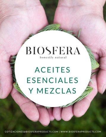 Catalogo Aceites Esenciales y Mezclas Biosfera
