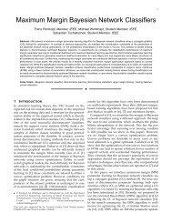 Maximum Margin Bayesian Network Classifiers - Signal Processing ...