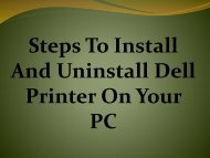 How To Install And Uninstall Dell Printer On Your PC?