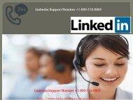 Linkedin Support  Phone Number +1-800-712-0803