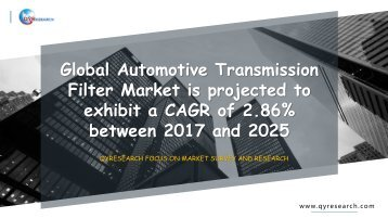 Global Automotive Transmission Filter Market is projected to exhibit a CAGR of 2.86