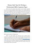 Money-Safe Tips On Writing a Professional MBA Capstone Paper - Page 2
