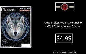 Anne Stokes Wolf Auto Sticker - Wolf Auto Window Sticker